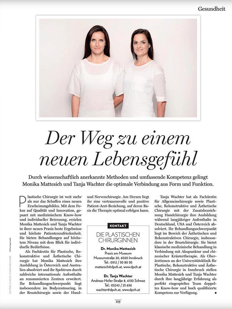 Der Weg zu einem neuen Lebensgefühl, Tirolerin | Die Plastischen Chirurginnen Tirol